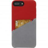 Afbeelding van Decoded Leather Snap On Apple iPhone 6 Plus/6s Plus/7 Plus/8 Plus Back Cover Rood