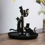 Afbeelding van Black Cats Jewelry Stand van Kikkerland