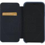 Afbeelding van Decoded Leather Slim Wallet Apple iPhone Xr Book Case Blauw