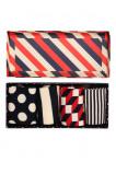 Afbeelding van Happy Socks sokken stripe giftbox 4 pack unisex