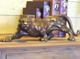Afbeelding van Bronzartes De jaguar tuinbeeld