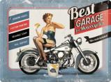 Afbeelding van Best Garage For Motorcycles Blauw Metalen Wandplaat 40x30cm Wandplaten