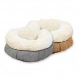 Afbeelding van Afp Lambswool Donut Bed Tan 45 x 25 cm