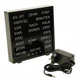 Afbeelding van United Entertainment LED Word Clock Duits 17 x 16.5 cm