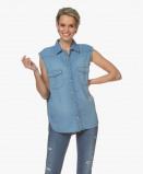 Bilde av ba&sh Blouse Blue Jeans Drop Sleeveless Cotton