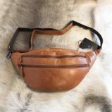 Billede af Bæltetaske i læder vintage cognac