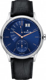 Afbeelding van Edox 01651 37R BUIR herenhorloge blauw edelstaal PVD rosé