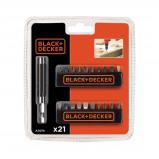 Afbeelding van Black & Decker 21 delige bitset A7074 XJ bitje