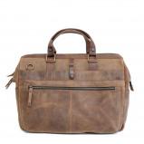 """Afbeelding van Barbarossa Ruvido Businessbag 16.4"""" Coffee Laptop Schoudertassen"""