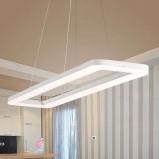 Afbeelding van ACB ILUMINACIÓN 69 W lichtsterkte LED hanglamp Grete, voor woon / eetkamer, methacrylaat, W, energie efficiëntie: A+, L: 90 cm, B: 20 H: 2.5 cm
