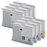 Afbeelding van Geschikt 2x Brother LC 1000 XL Multipack (inktcartridges) Alleeninkt