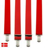 Billede af 140 cm H seler XXL Røde Klassiske Brede 4 Clips