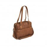 Imagem de Chesterfield Leather Shoulder Bag Cognac Barcelona