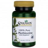 Image de 100% Pure L Methionine 500mg de Swanson Health 30 gélules