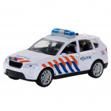 Afbeelding van Basic 112 Pull Back Politieauto met Licht en Geluid 1:43