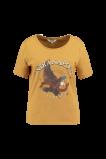 Abbildung von FSTVL by MS Mode Damen T Shirt mit Aufdruck Gelb