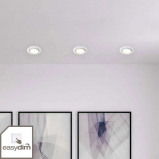 Afbeelding van Brilliant 3 delige set easydim inbouwlampen Honor met LED's, voor keuken, metaal, GU10, 5 W, energie efficiëntie: A+