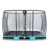 Bilde av EXIT Elegant bakketrampoline 244x427cm med Deluxe sikkerhetsnett blå