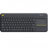 Afbeelding van Logitech K400 Plus Wireless Touch Zwart QWERTY toetsenbord
