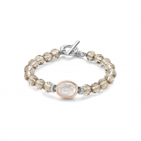 Image of TI SENTO Milano Bracelet Brown Silver Rose Gold Plated 2864TB