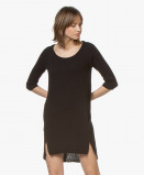Bilde av BRAEZ Tunic Dress Black Cotton with 3/4 Sleeves