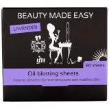 Afbeelding van Beauty Made Easy Oil Blotting Sheets Lavender 80ST