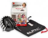 Afbeelding van Alpine Muffy gehoorbescherming voor kinderen Zwart met beschermtasje