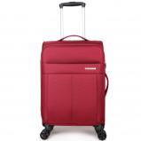 Afbeelding van Decent D Upright Handbagage Spinner 55 Red Zachte Koffers