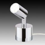 Afbeelding van Busch kleine LED minispot tafellamp Karen, voor woon / eetkamer, metaal, 6.5 W, energie efficiëntie: A+, H: 13 cm