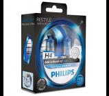 Afbeelding van Philips colorvision h4 blauwe autolamp 12342cvpbs2
