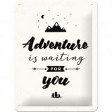 Afbeelding van Adventure Is Waiting Metalen Wandplaat 15x20cm Wandplaten
