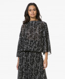 Obrázek ba&sh Blouse Black Siam Plisse with Print
