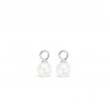 Abbildung von TI SENTO Milano Ohrring Anhänger Rhodiniertem Sterlingsilber Weiß Perle Damen 9003PW