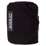 Image de Anky Bandages Basic Fleece Jeu de 4 Noir 3,5m