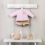 Billede af ASI Koke Dukketøj Termotrøje med strikket buks, hue og sokker