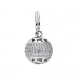 Afbeelding van Classics Hanger Bol zilver met zirconia 120.0282.00