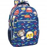 Afbeelding van Emoji Boos Rugzak meisjes blauw 23 liter