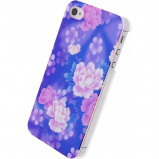 Afbeelding van Xccess Oil Cover Apple iPhone 5/5S/SE Purple Flower