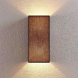 Afbeelding van Adea Stoffen wandlamp in het zwart, Lampenwelt.com, voor slaapkamer, stof, metaal, E27, 60 W, energie efficiëntie: A++, B: 17 cm, H: 38 cm