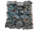 Zdjęcie Vlisco Rope Design Blue African print fabric Silk Scarves Objects