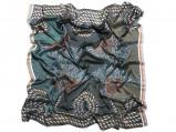 Imagem de Vlisco Rope Design Blue African print fabric Silk Scarves Objects