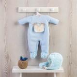 Billede af ASI Leo dukketøj Varm dragt, hue og vanter Lyesblå