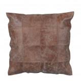Afbeelding van Casa Vivante amia lederen kussen bruin maat in cm: 45 x 3