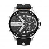 Afbeelding van Diesel Horloge Chronograaf Mr. Daddy 2,0 staal/leder zwart DZ7313