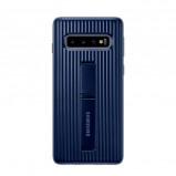 Afbeelding van Samsung Galaxy S10 Protect Stand Back Cover Blauw telefoonhoesje