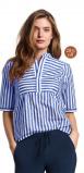 Image of LaDress Aletta cotton blouse blueprintwhite