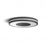 Afbeelding van philips Hue Being plafondlamp zwart, voor woon / eetkamer, metaal, kunststof, 32 W, energie efficiëntie: A+, H: 5 cm