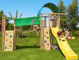 Image de Aire de Jeux avec Pont Suspendu Villa Bridge Jungle Gym