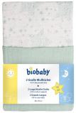 Afbeelding van Biobaby Hydrofiele Luier Sterren Mint 80x70cm