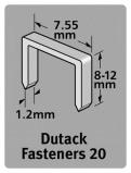 Afbeelding van Dutack 5011009 Nieten Serie 20 12mm (1000st)